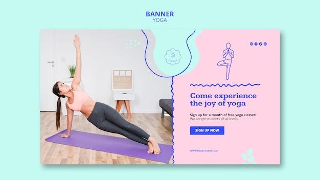 Banner yoga advertentiesjabloon Gratis Psd