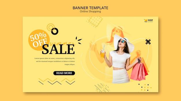 Bannermalplaatje online winkelen Gratis Psd