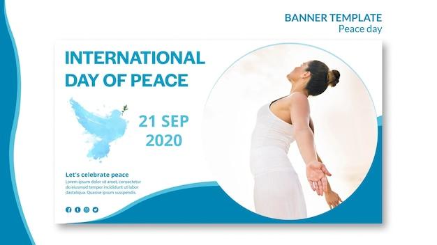 Bannermalplaatje voor internationale dag van vrede Gratis Psd