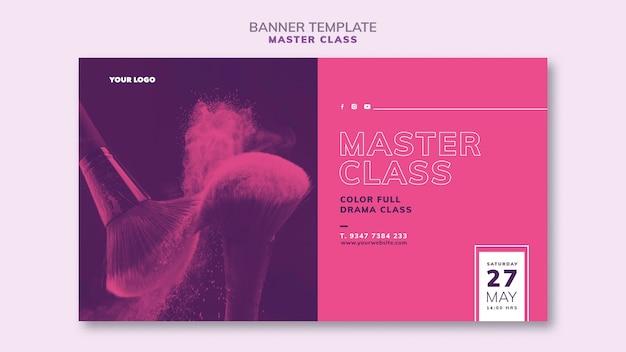 Bannermalplaatje voor masterclass Gratis Psd