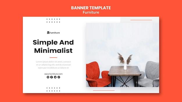 Bannermalplaatje voor minimalistische meubelontwerpen Gratis Psd