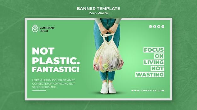 Bannermalplaatje voor nul afval Gratis Psd