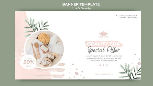 Bannermalplaatje voor spa en beauty Premium Psd