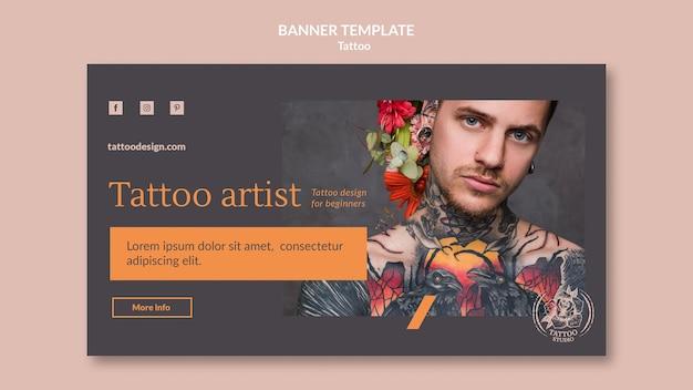Bannermalplaatje voor tatoeëerder Gratis Psd