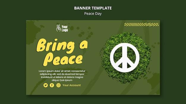 Bannermalplaatje voor wereldvrededag Gratis Psd