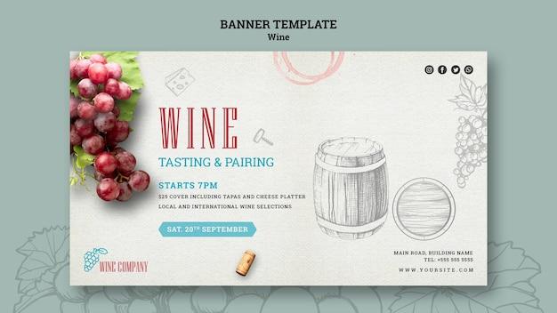 Bannermalplaatje voor wijnproeverij Gratis Psd