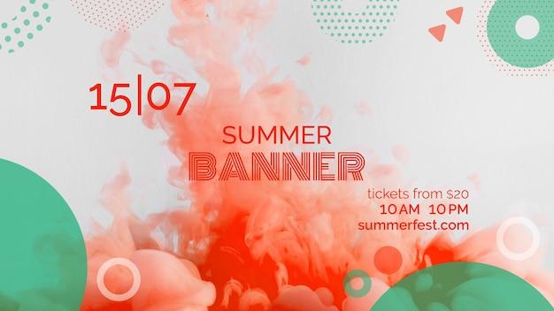 Bannermalplaatje voor zomerfestival Gratis Psd