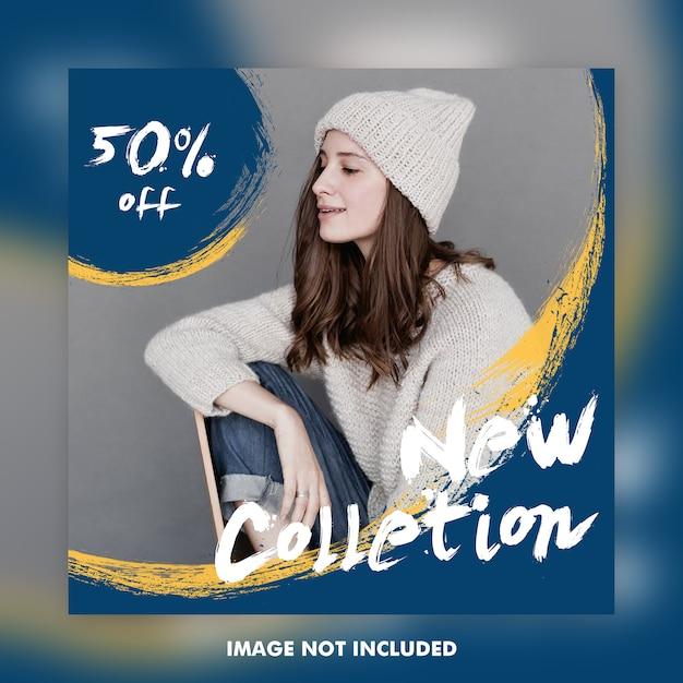 Banners de anuncios de publicación de instagram de moda PSD Premium