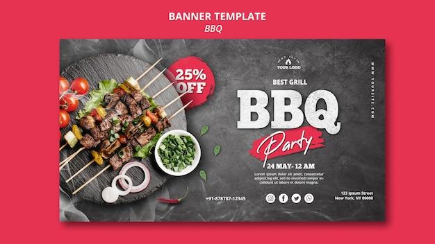 Barbecue banner sjabloon concept Gratis Psd