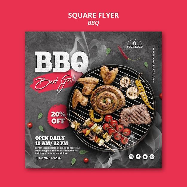 Barbecue flyer sjabloonontwerp Gratis Psd