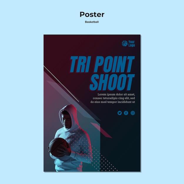 Basketbal posterontwerp Gratis Psd