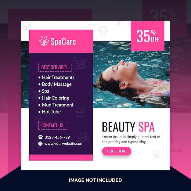 Beauty spa kortingsaanbieding post-sjabloon Premium Psd
