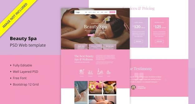 Beauty spa website sjabloon Premium Psd