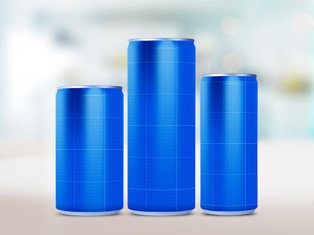 Bebida puede maqueta PSD Premium