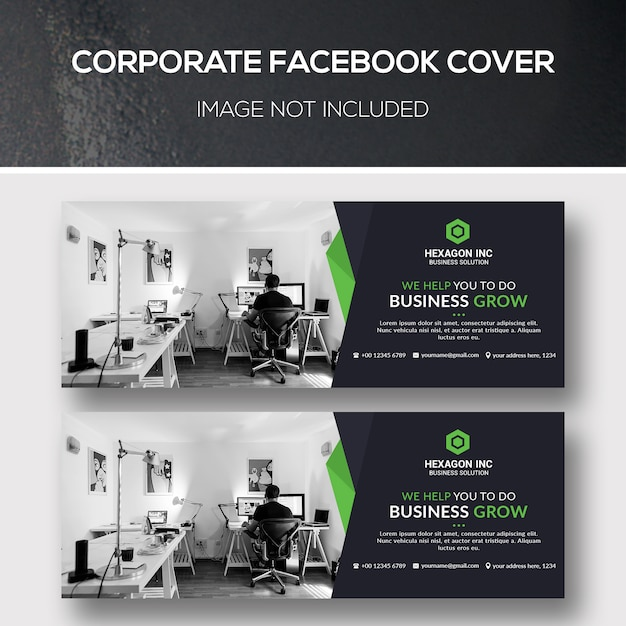 Bedrijf facebook cover Premium Psd