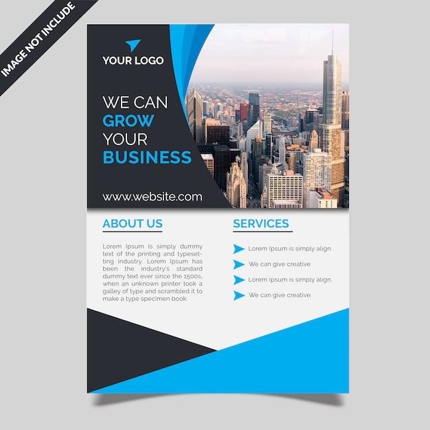 Bedrijf flyer template Premium Psd