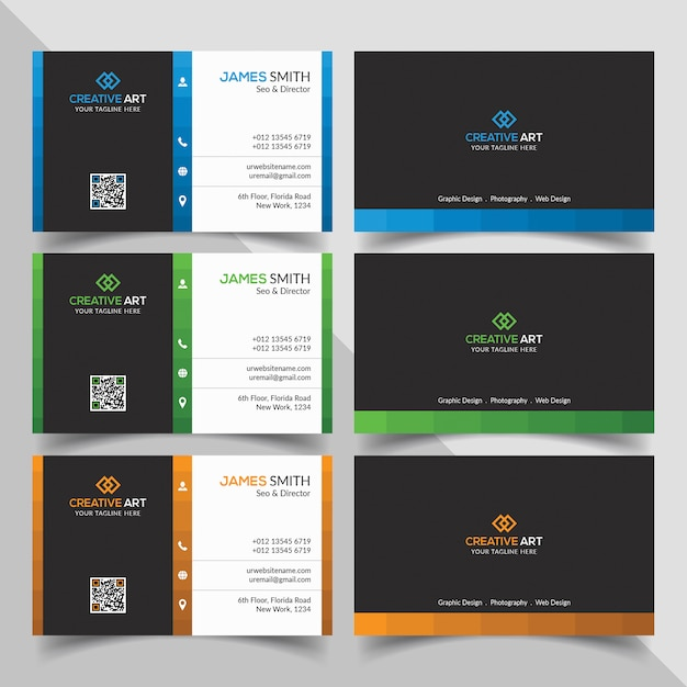Bedrijfs visitekaartje Premium Psd