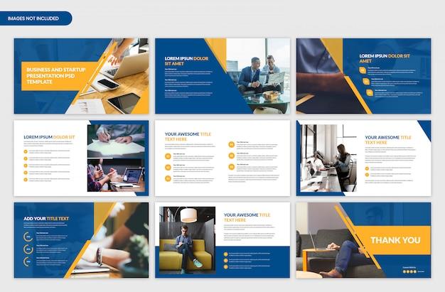 Bedrijfsanalyse en projectpresentatie slider sjabloonontwerp Premium Psd