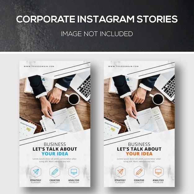 Bedrijfsverhalen instagram Premium Psd
