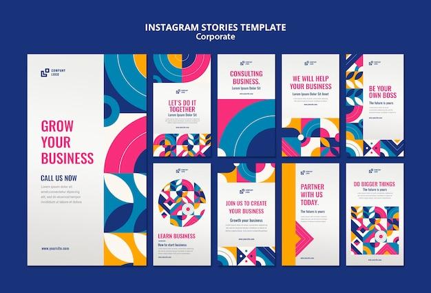 Bedrijfsverhalen op instagram Gratis Psd