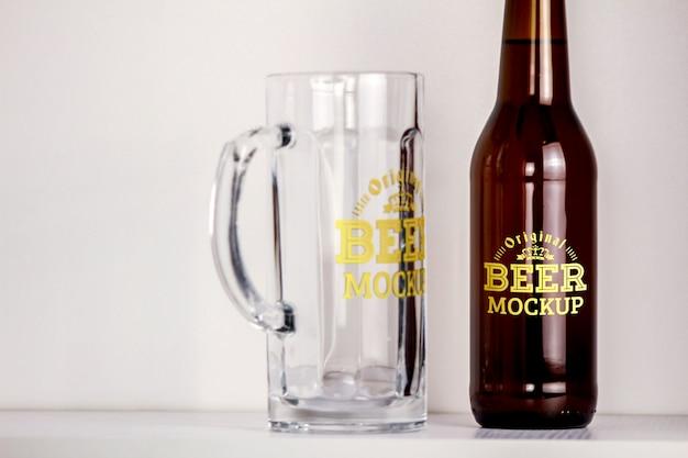Beer mockup Psd Premium