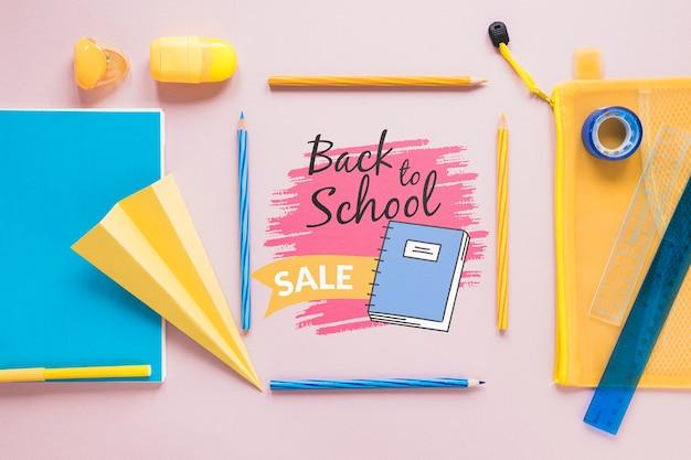 Benodigdheden verkoop voor terug naar school evenement Gratis Psd