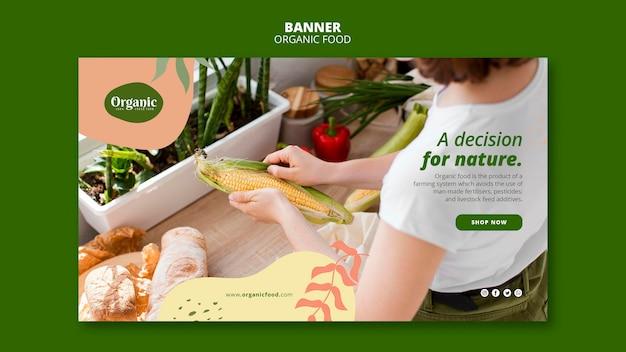 Besluit voor de websjabloon van de natuurbanner Gratis Psd