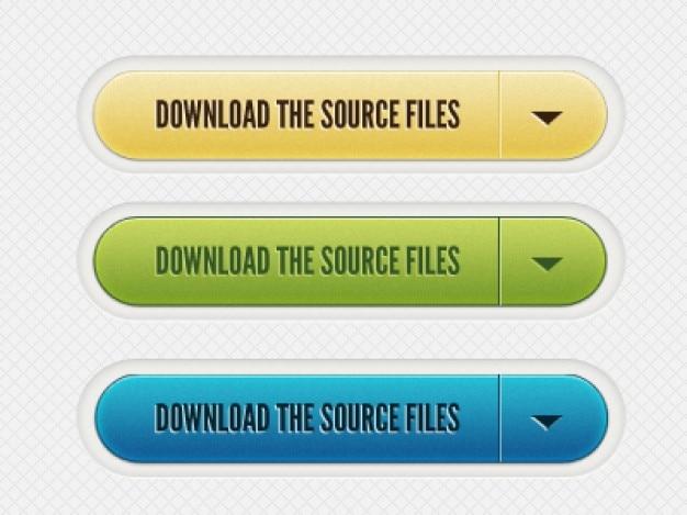 Bestanden downloaden knoppen psd materiaal Gratis Psd