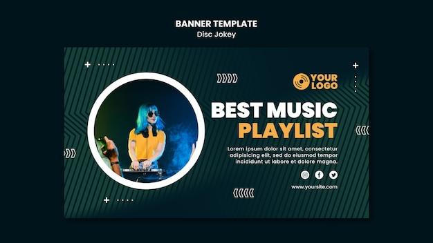 Beste bannermalplaatje voor muziekafspeellijsten Gratis Psd