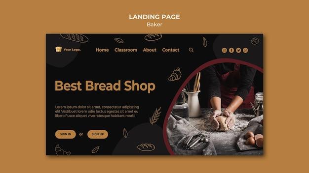 Beste bestemmingspagina voor broodwinkel Gratis Psd