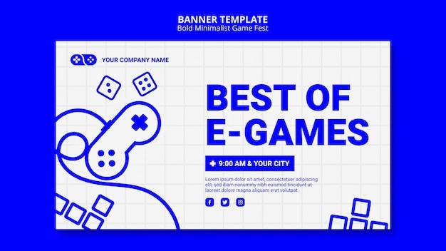 Beste van e-games games jam fest bannermalplaatje Gratis Psd