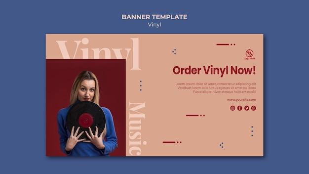 Bestel nu vinyl bannermalplaatje Gratis Psd