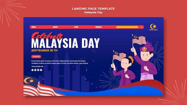 Bestemmingspagina voor de viering van de dag van maleisië Gratis Psd
