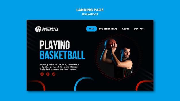 Bestemmingspagina voor het spelen van basketbalspellen Gratis Psd