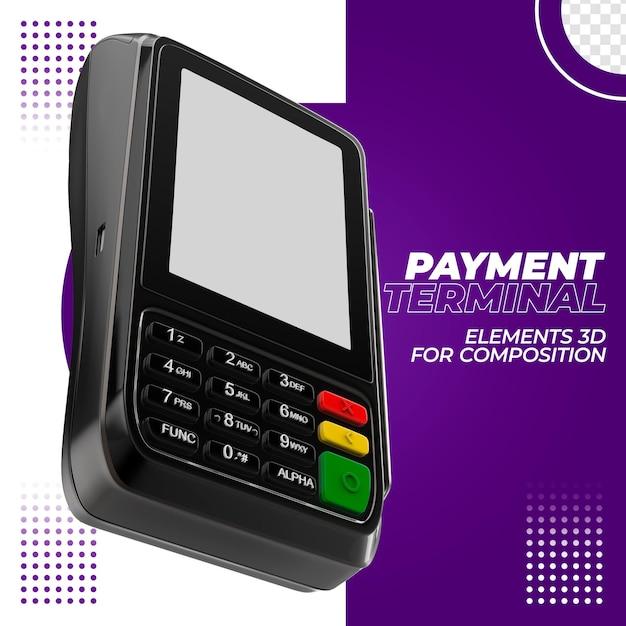 Betaalterminal met creditcard 3d Premium Psd