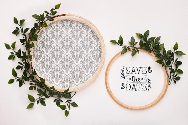 Bewaar de datummodellen met bladeren Gratis Psd