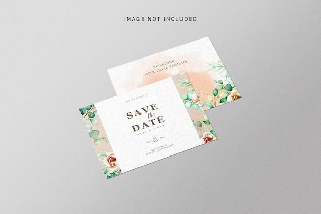 Bewaar het datumkaartmodel Gratis Psd