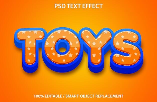 Bewerkbaar speelgoed met teksteffect Premium Psd