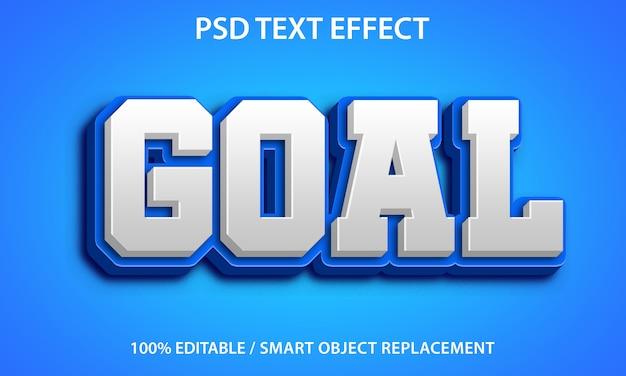 Bewerkbaar teksteffect blue goal premium Premium Psd