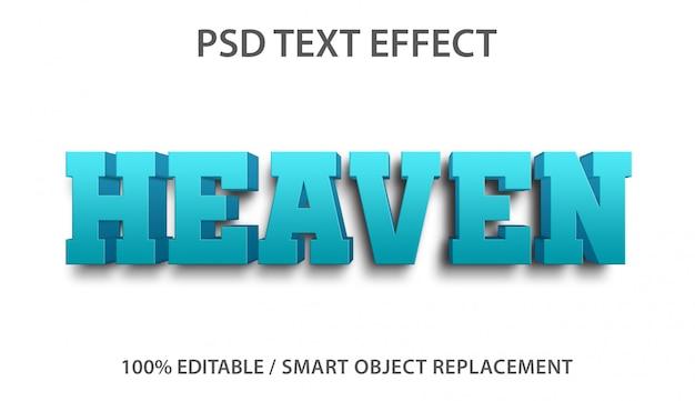 Bewerkbaar teksteffect heaven Premium Psd