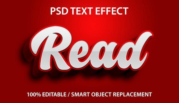 Bewerkbaar teksteffect lees premium Premium Psd