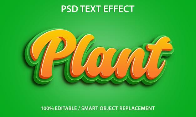 Bewerkbaar teksteffect plant premium Premium Psd