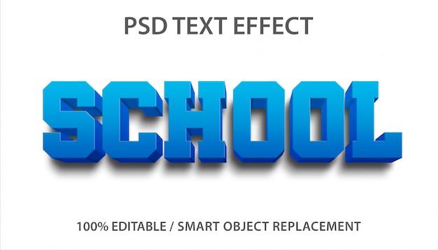 Bewerkbaar teksteffect school premium Premium Psd