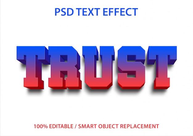 Bewerkbaar teksteffect trust premium Premium Psd