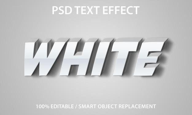 Bewerkbaar teksteffect white premium Premium Psd
