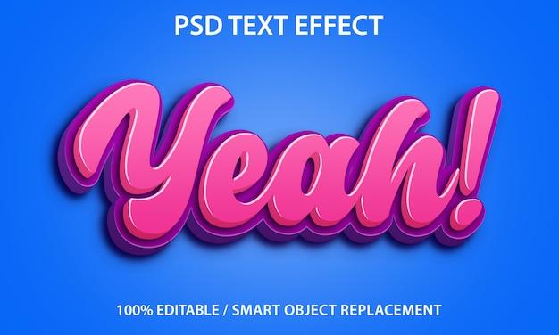 Bewerkbaar teksteffect Premium Psd