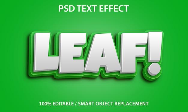 Bewerkbaar teksteffectblad Premium Psd