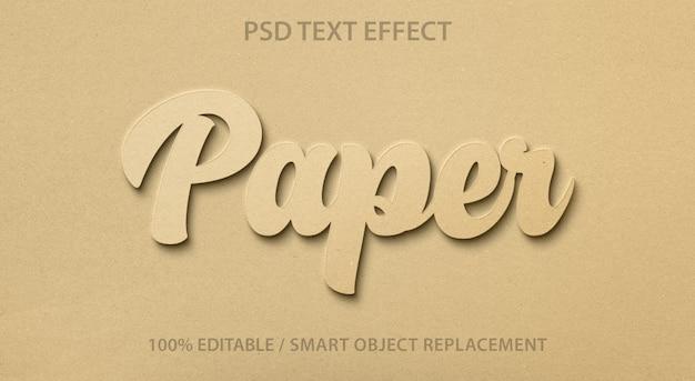 Bewerkbaar teksteffectpapier Premium Psd
