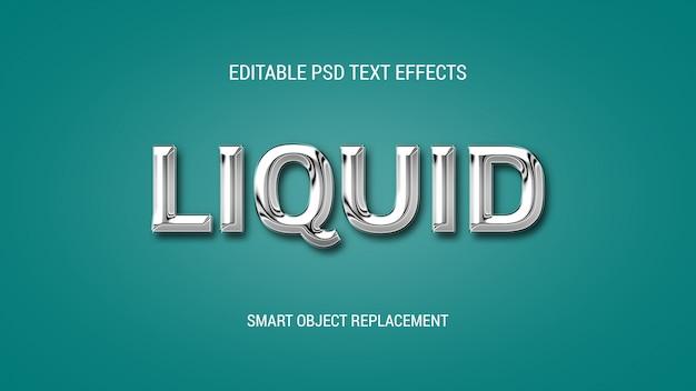 Bewerkbare 3d-teksteffecten in chrome-stijl Premium Psd