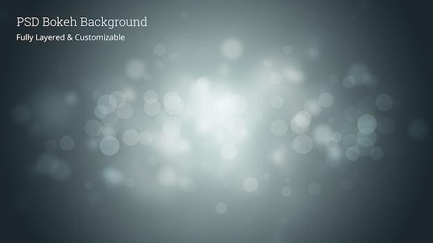 Bewerkbare psd bokeh achtergrond Premium Psd